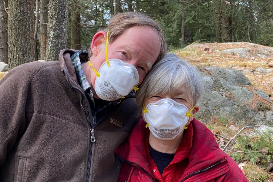 Don and Marnie Ross wearing masks