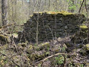 foundations of the old mill or mill house